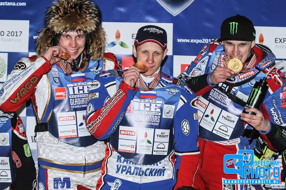 Сборная Российской Федерации стала чемпионом мира поледовому спидвею