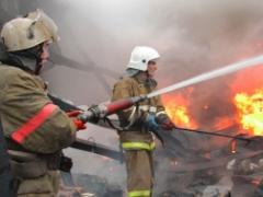 Вчера под Каменском-Уральском сгорела недостроенная баня и надворные постройки