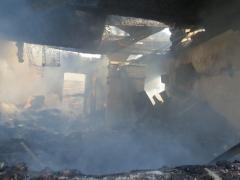 Фотоподробности крупного пожара в Исетском. Итоги огненной недели