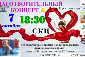 В Каменске-Уральском пройдет благотворительный концерт и сбор средств для 5-летнего Артема Хомутова