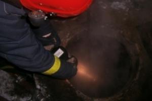 В воскресенье днем на улице Привокзальная в Каменске-Уральском произошел пожар в коллекторе теплотрассы