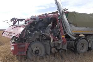 Под Каменском-Уральским КАМАЗ въехал в иномарку, которая стояла на обочине. Пострадали оба водителя