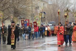 Крестным ходом в Каменске-Уральском завершился благотворительный марафон, посвященный сбору пожертвований на строительство нового храма