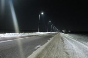 К концу года освещение получит один из участков дороги под Каменском-Уральским