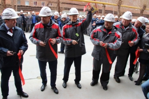 Евгений Куйвашев побывал на открытии участка автоклавного выщелачивания на Уральском алюминиевом заводе в Каменске-Уральском