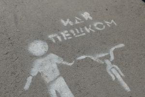 Вам 180 раз сказано: «Иди пешком». Необычная акция завершилась в Каменске-Уральском