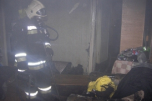 Под Каменском-Уральским вчера вечером произошел пожар в частном доме на двух хозяев