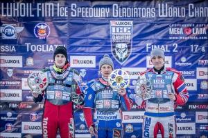 Дмитрий Хомицевич из Каменска-Уральского остается на третьем месте в личном чемпионате мира по ледовому спидвею