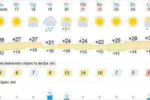 Лето продолжается. Да начала августа Каменску-Уральскому обещают жару