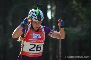 Тамара Воронина из Каменска-Уральского завоевала бронзу чемпионата России по летнему биатлону