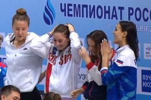 Дарья Устинова из Каменска-Уральского 11 ноября вновь завоевала золото чемпионата России по плаванию