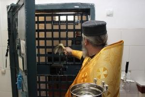 Колонию в Каменске-Уральском освятили. В том числе штрафной изолятор и комнаты свиданий
