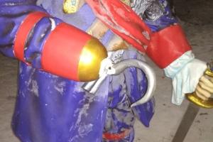 Пират стал первой жертвой вандалов в городском парке Каменска-Уральского